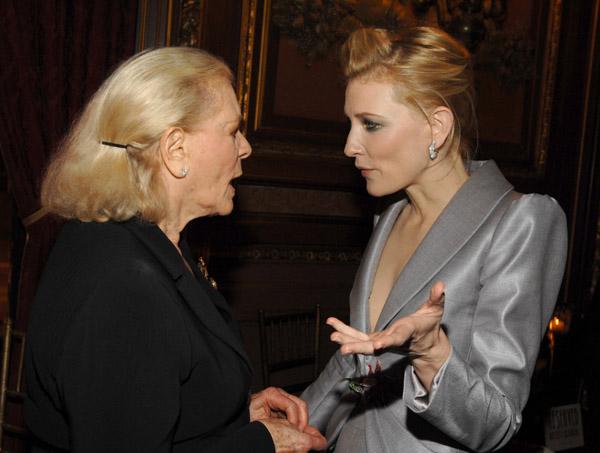 Lauren Bacall y Cate Blanchett