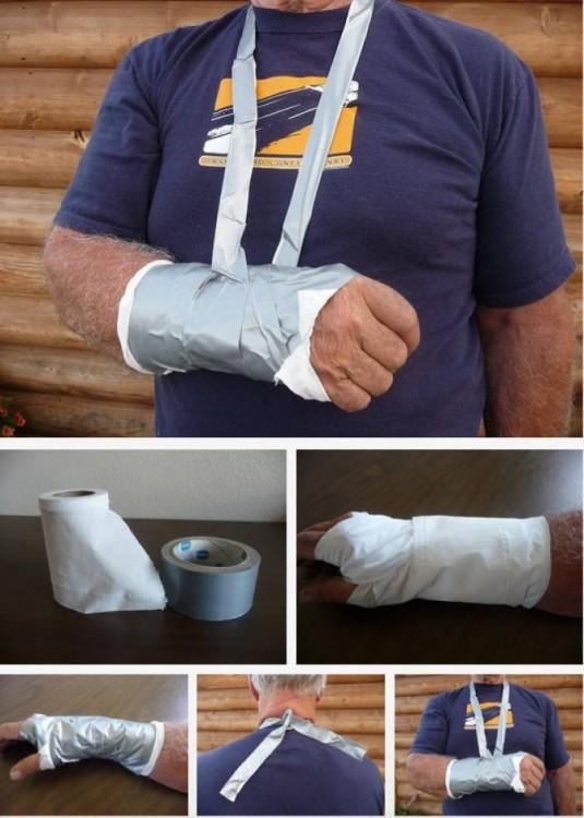 brazo para primeros auxilios