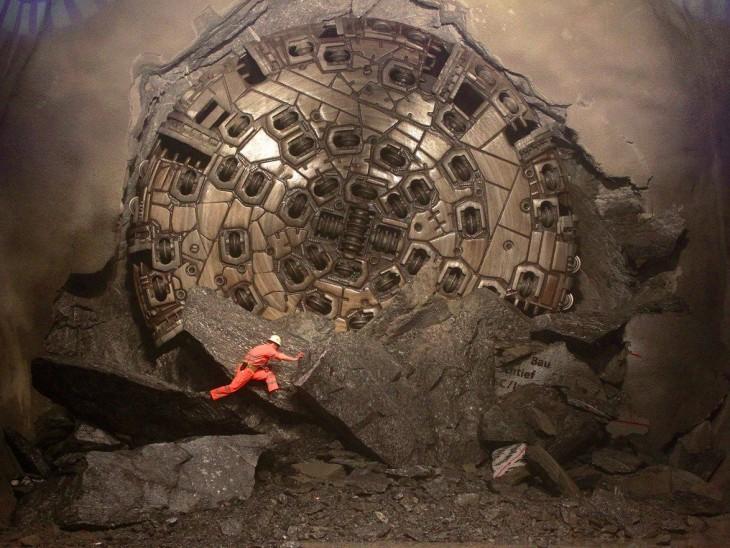 hombre operador de una mina