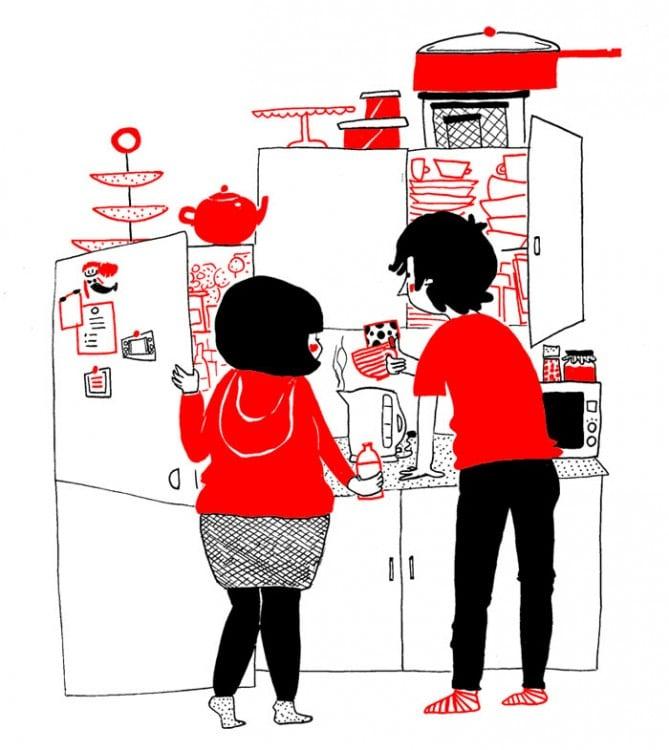 24 Ilustraciones de Phillippa Rice que Demuestran que el Amor Está en Pequeñas Cosas