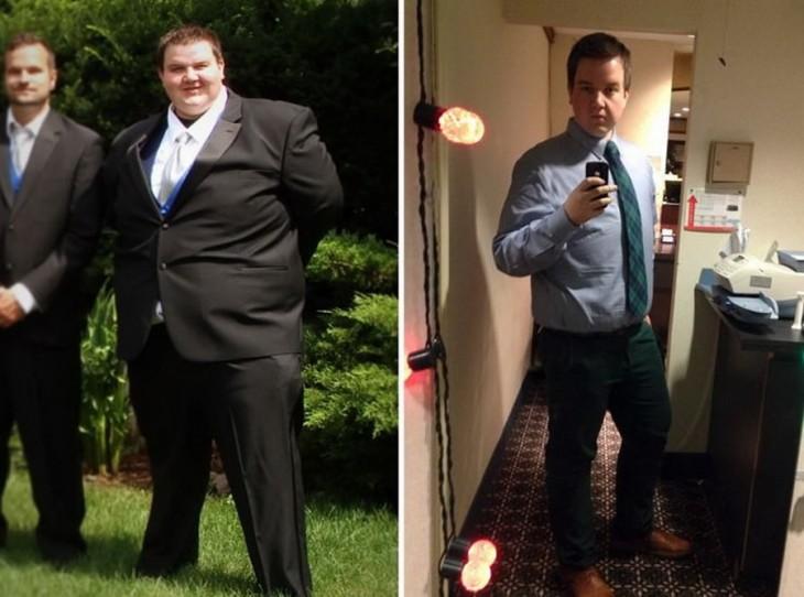 omnes chico que bajo basantes kilos después de un gran esfuerzo