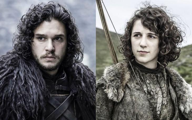 Jon Snow y Meera Reed son gemelos separados al nacer