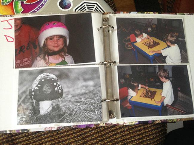 y hasta en el album fotografico tenía su lugar, siempre lo creímos