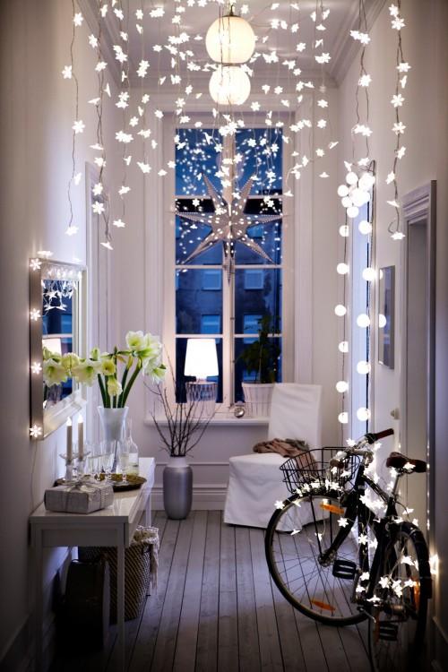 cortinas de luces en el techo