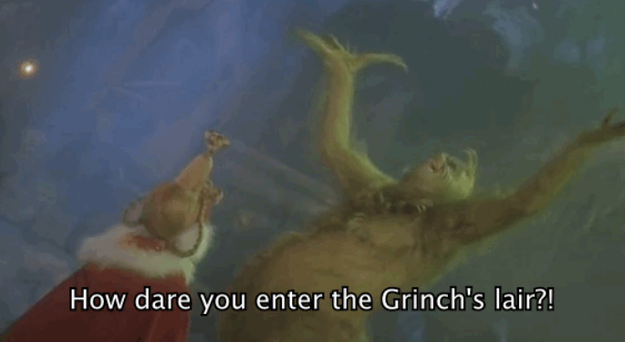 el grinch renegando