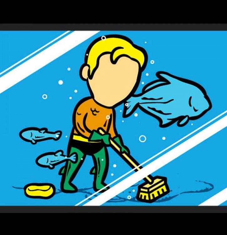 aquaman de limpiador de piscinas de los acuarios