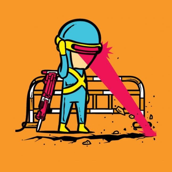 Cyclops arranjar as ruas da cidade