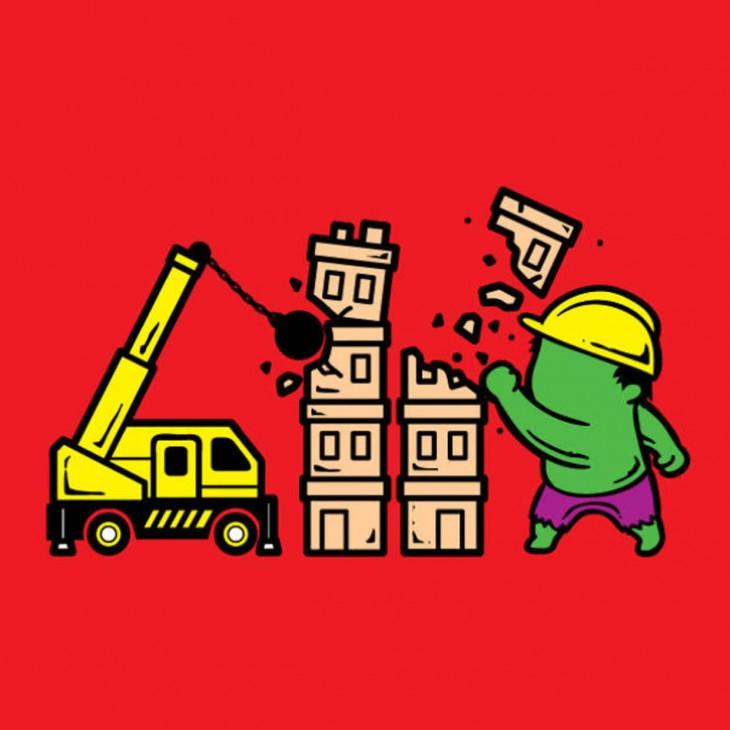 trabalho hulk como demolir