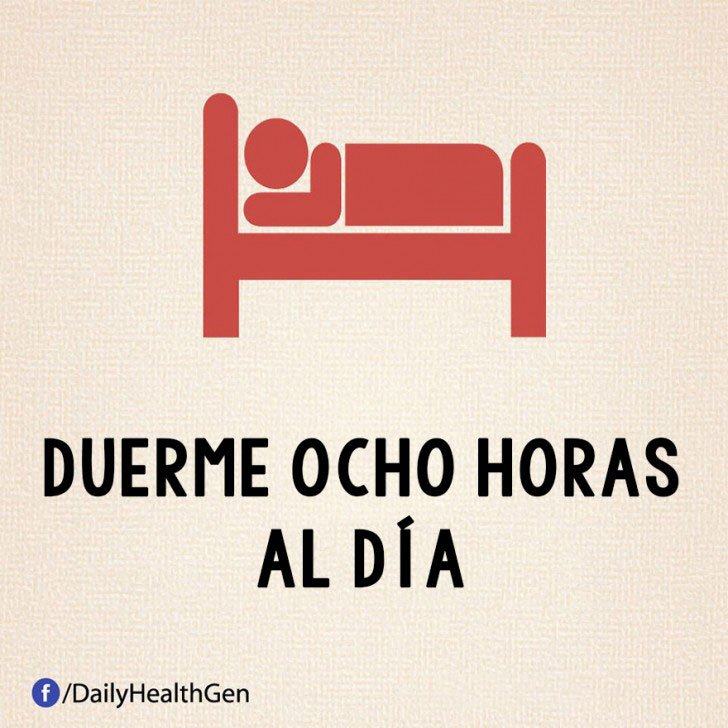 duerme ocho horas diarias