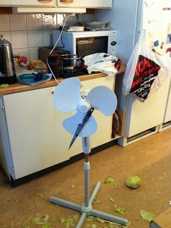 vventilador utilizado como ninja kitchen