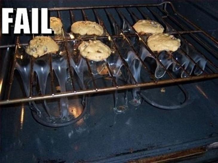 fail de las cocina con los panquesitos para hornear