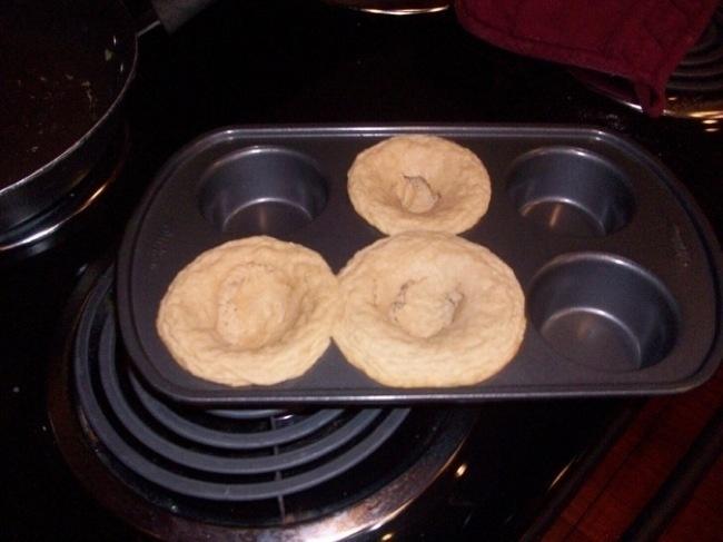 muffin ponchados . Les falto levadura para lograr la consistencia