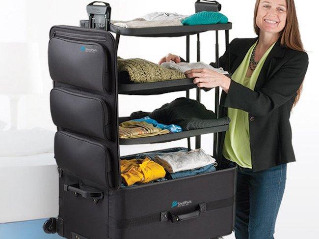 maleta con estantes incluidos para cualquier viaje al que requieras tener sumamente organizado