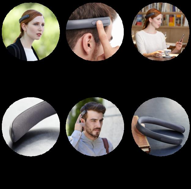 Auriculares que no se ponen directamente en las orejas de las personas sino arriba ala altura del oído pero sin tocarlo. inventos que llamaron la atención en 2015