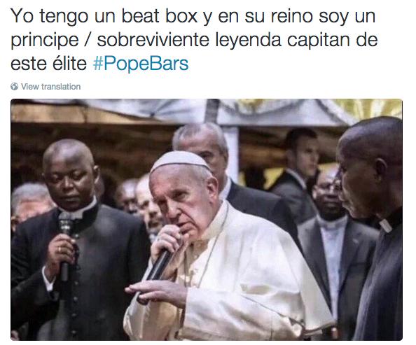 meme del papa rapero