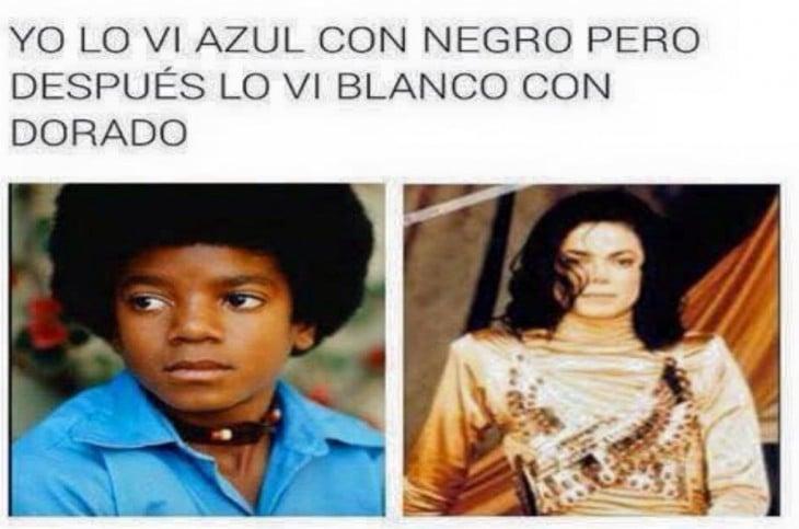 MEME DEL VESTIDO AZUL