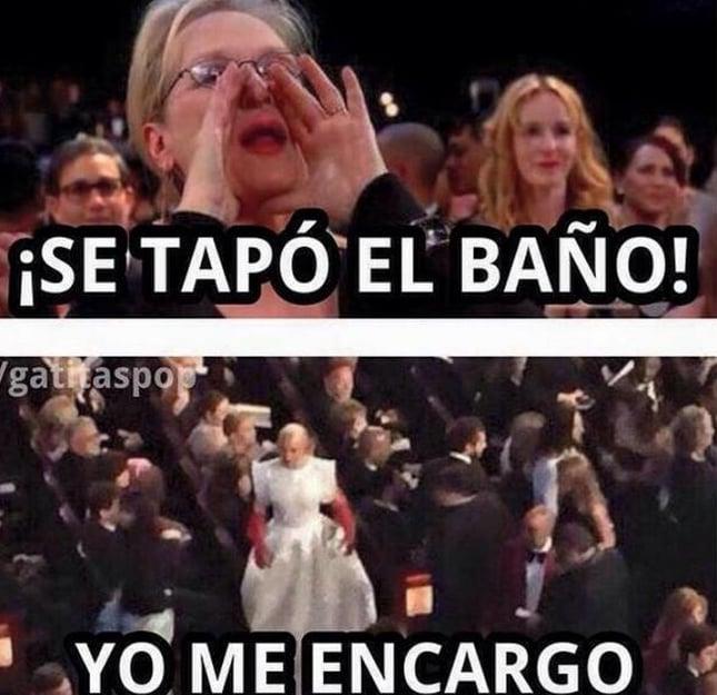 Meryl Streep con los Oscars meme se tapo el baño
