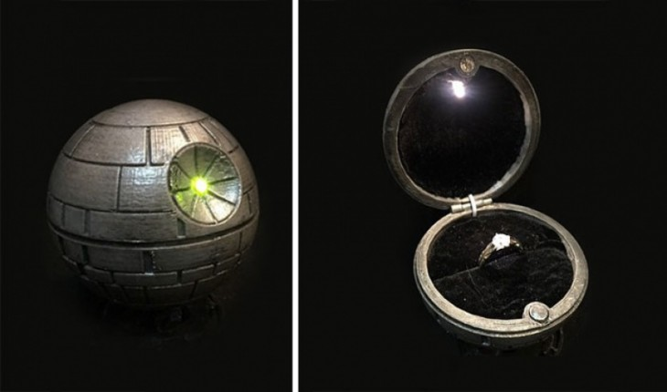 death Star anillo de compromiso