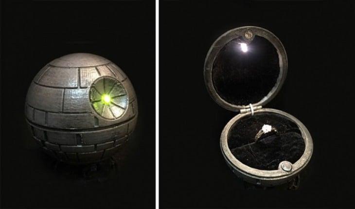 death Star anillo de compromiso