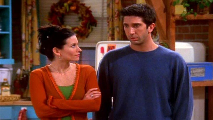 Monica y ross escenas de friends