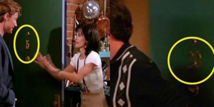 el numero del apartamento de monica tuvo que cambiar luego de que no tuviera sentido en la historia de la serie