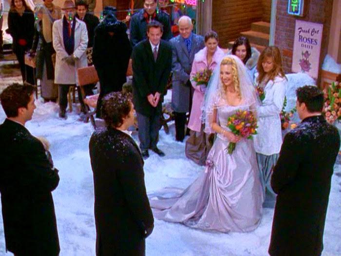 Fiesta de Phoebe cuando se casa afuera del central perk