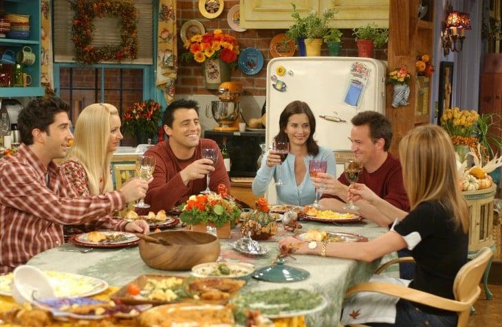 en la cena de accción de gracias