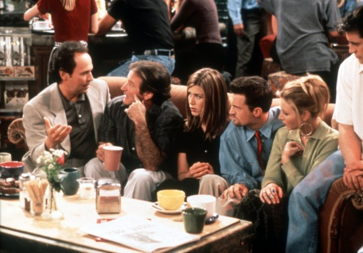 escena donde sale williams en 1997 friends