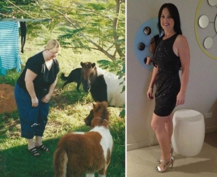 mujer que bajo de peso con zumba