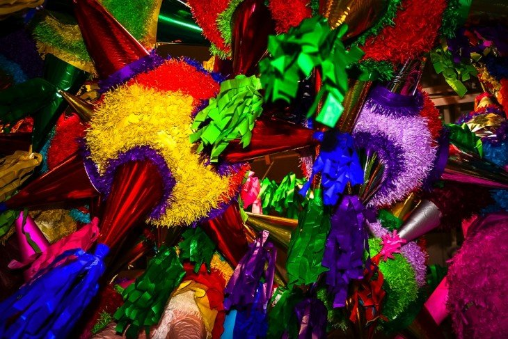 piñatas de las posadas navideñas