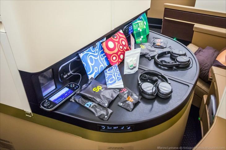kit de accesorios para los pasajeros del avión A380