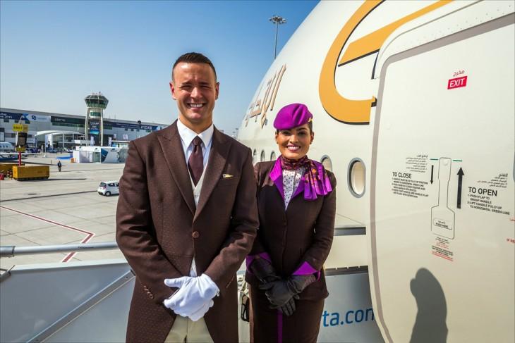 Personal del avión A380 en Dubai