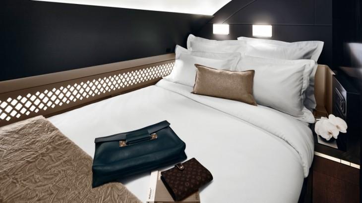 recámara en el área de residencia en el avión A380