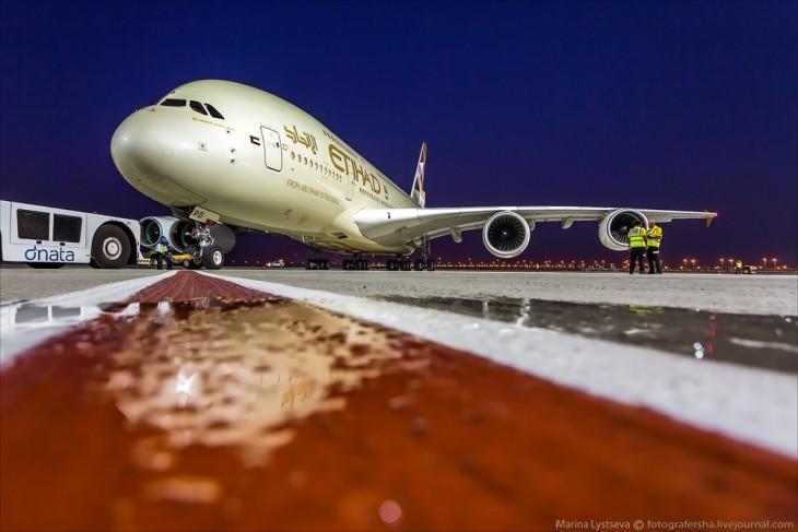 Avión A380 en la aerolínea Etihad Airways