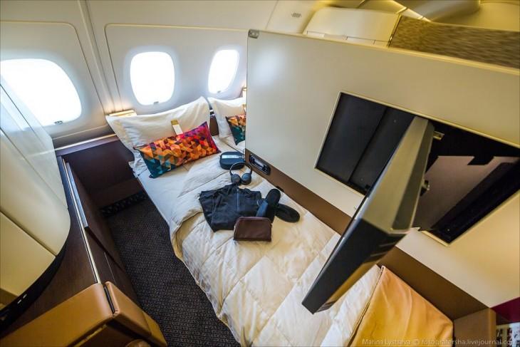 área de pasajeros de negocios en el avión A380