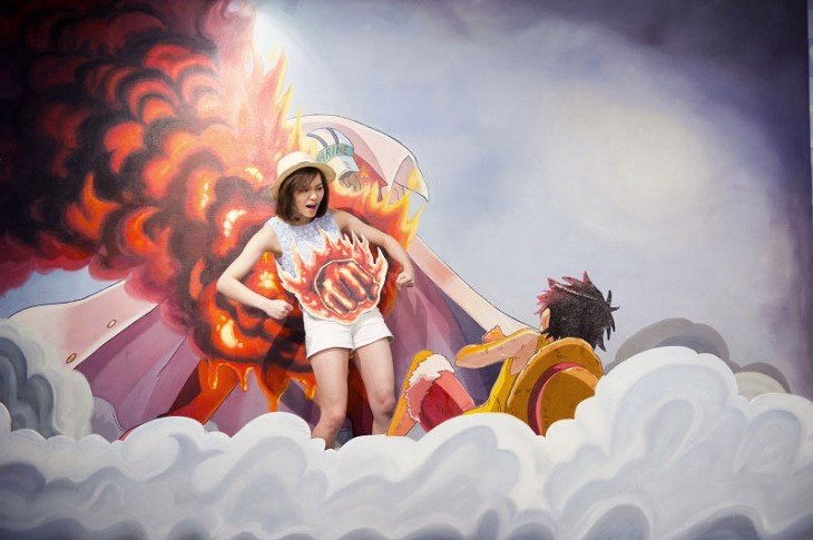 Museo 3D con arte One Piece en Hong Kong