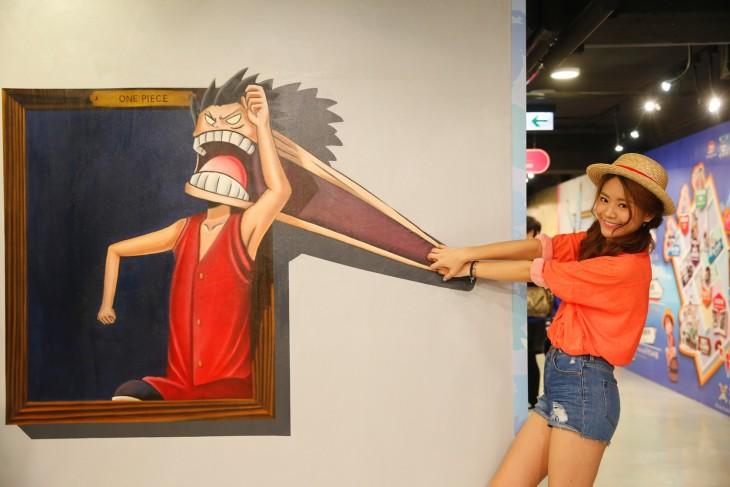 arte interactiva en el museo 3D en Hong Kong