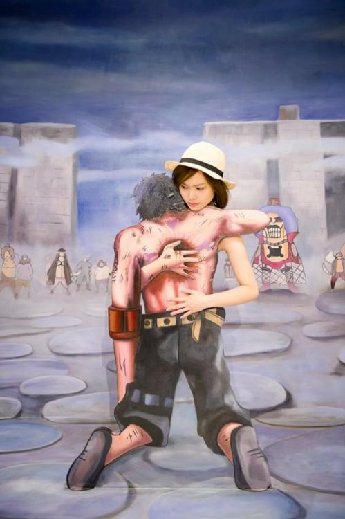 Exhibición One Piece en el museo 3D en Hong Kong