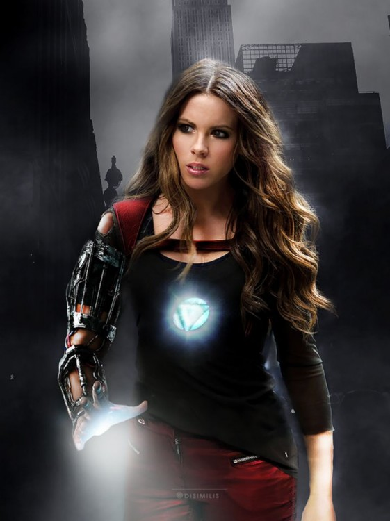 Kate Beckinsale como Iron Man