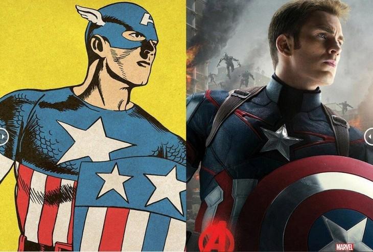 Capitán América antes y después de la película de Avengers Age Of Ultron