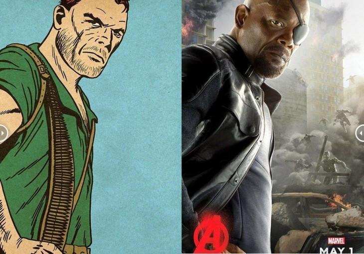 Comparación del actual Nick Fury con las primeras apariciones en los Avengers