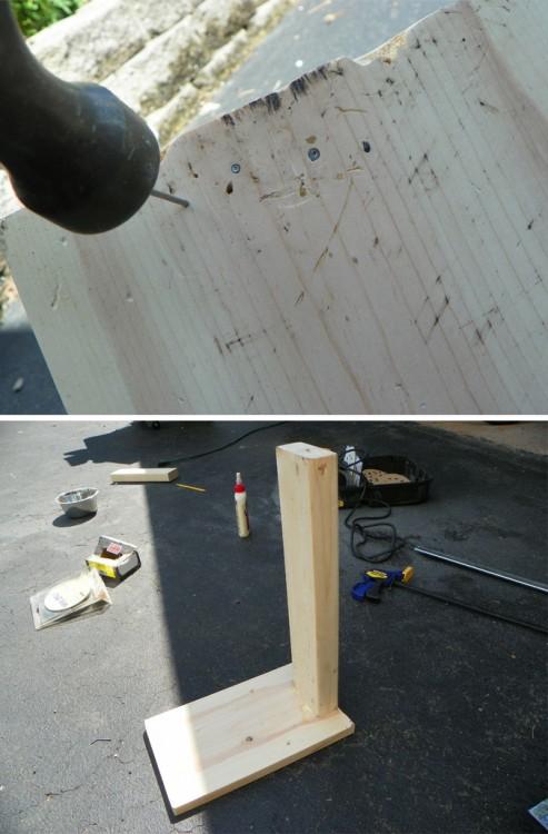 pasos para clavar unas tablas