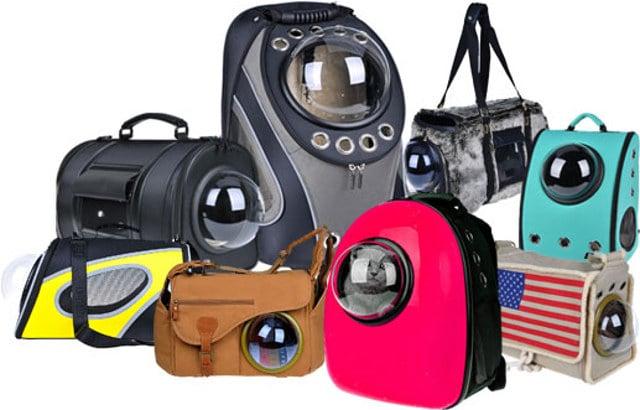 diferentes estilos y diseños de mochilas para transportar a tus mascotas