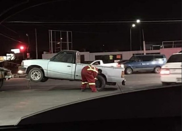 Corralon donde encontraron la pick up robada en Hermosillo