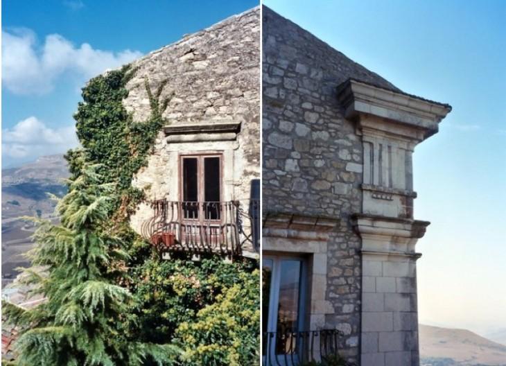 Estructura de las casas en Gangi, Sicilia