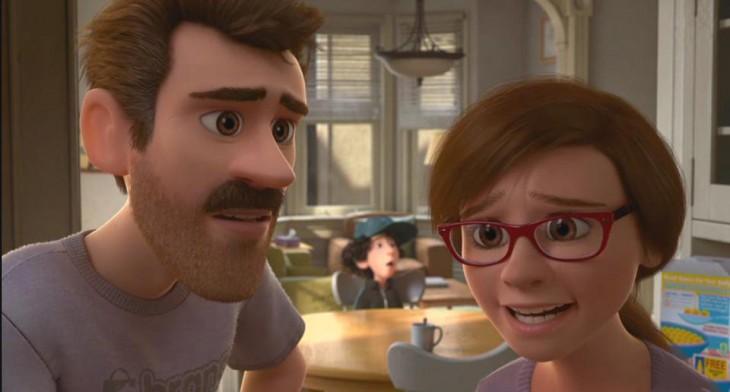 """Padres de Riley en el corto """"La primera cita de Riley"""""""