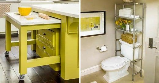 ideas que te ayudarán a aprovechar mejor el espacio de tu casa