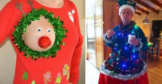 25 horribles suéters de Navidad que desearías que desaparecieran del planeta