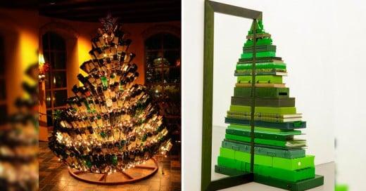 25 Increíbles ideas para darle un cambio a tu árbol de Navidad