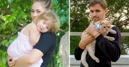Gordy Yates -trolea a su hermana recreando sus fotos con su gato